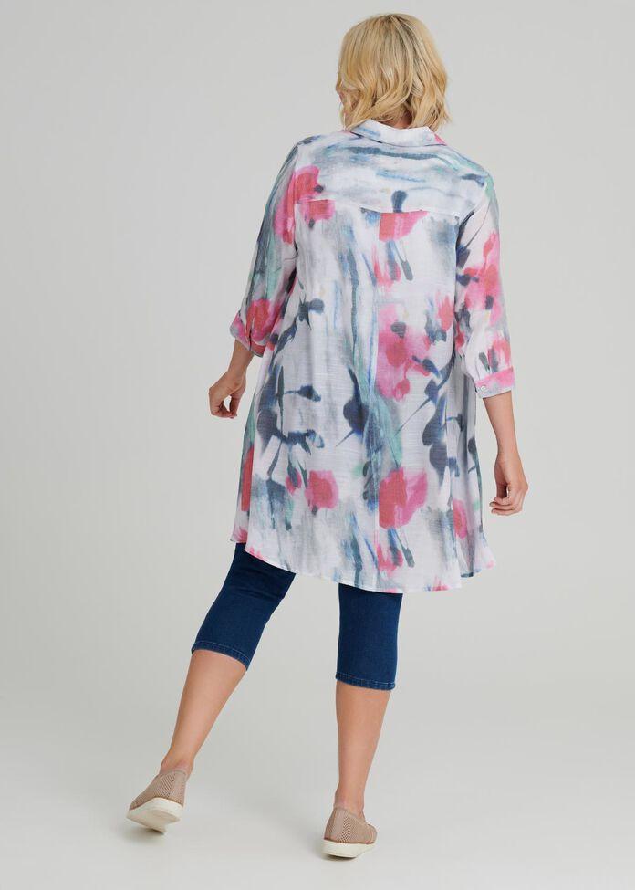 Paris Chic Flowy Shirt, , hi-res