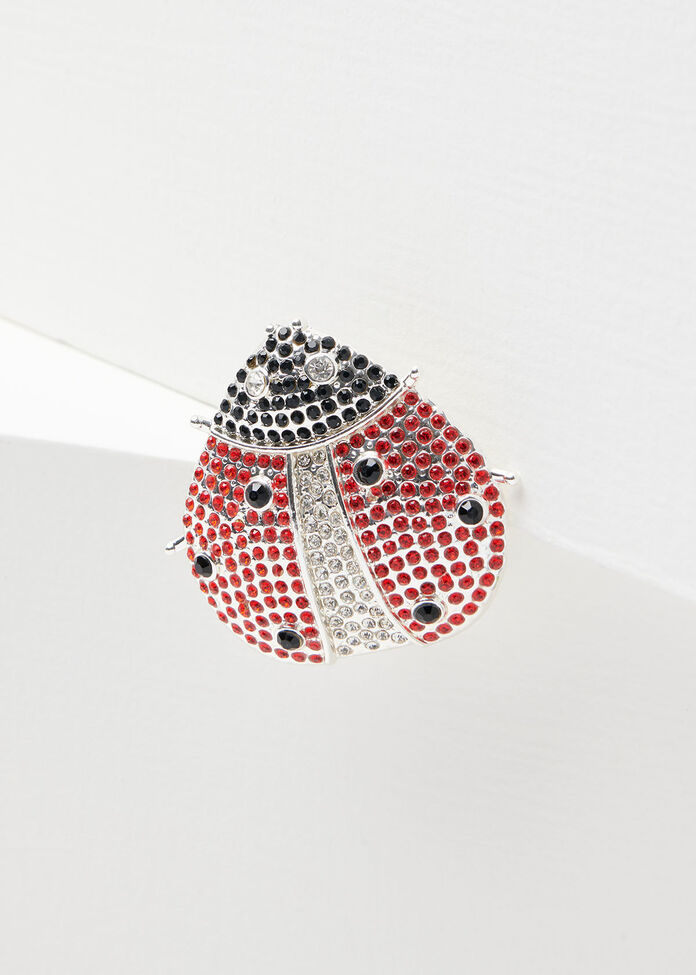 Lady Luck Brooch, , hi-res