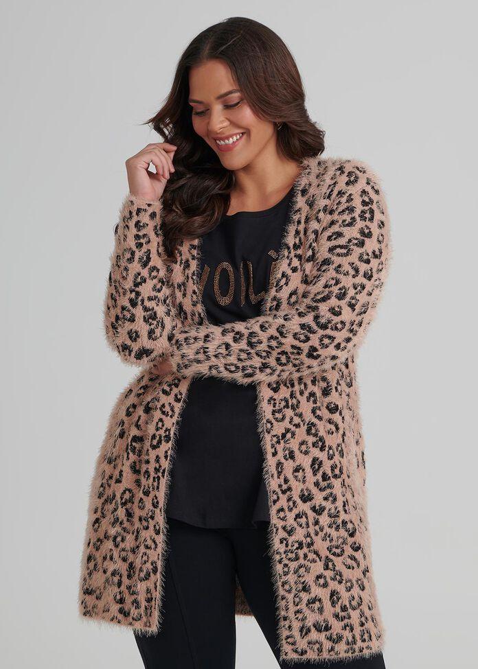 Leopard Blush Cardigan, , hi-res