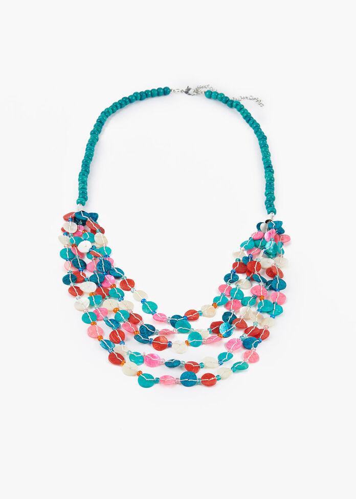 Bright Button Necklace, , hi-res