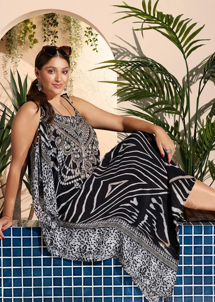Poolside Viscose Dress, , hi-res