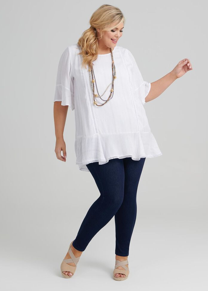 Shimmer Stripe Tunic, , hi-res