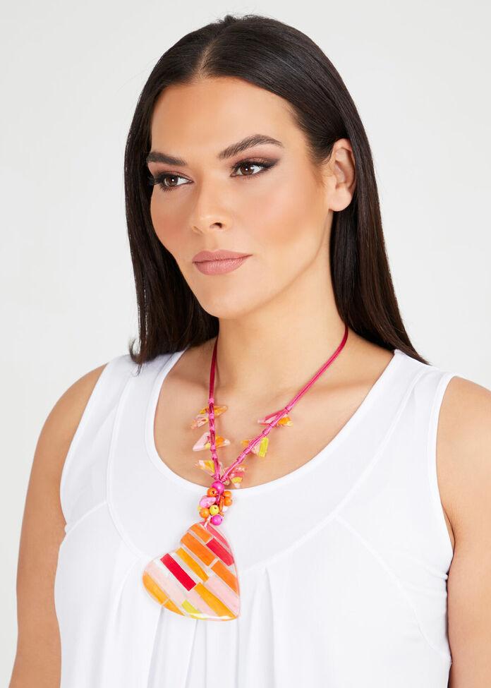 Heart Stripe Necklace, , hi-res