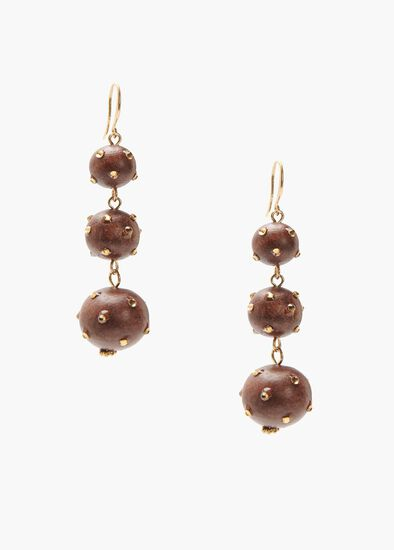 Crystal Wood Earrings