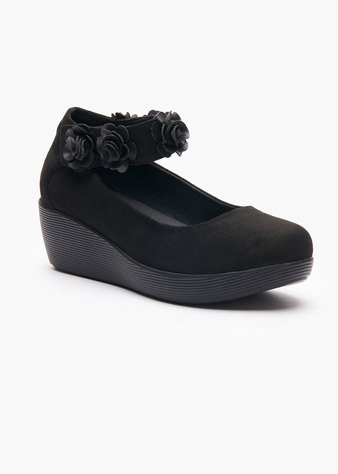 The Floral Ginger Court Wedge, , hi-res