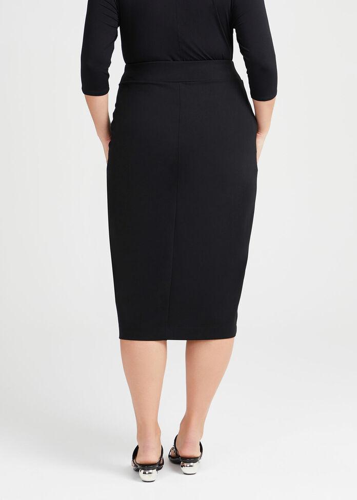 Agent Bamboo Ponte Skirt, , hi-res