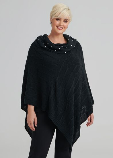 Pearl Cable Poncho