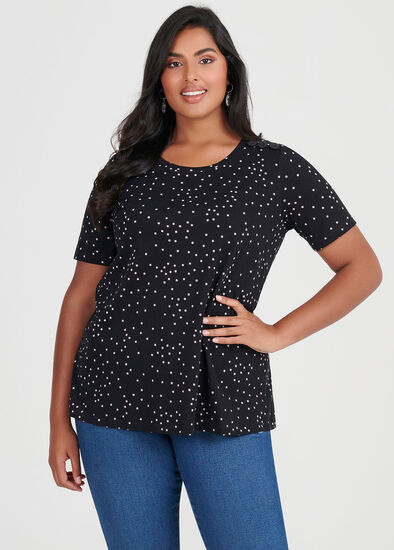 Cotton Mix Stars Top