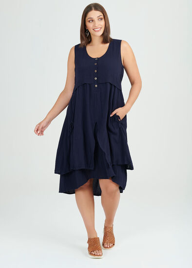 Midnight Layer Viscose Dress