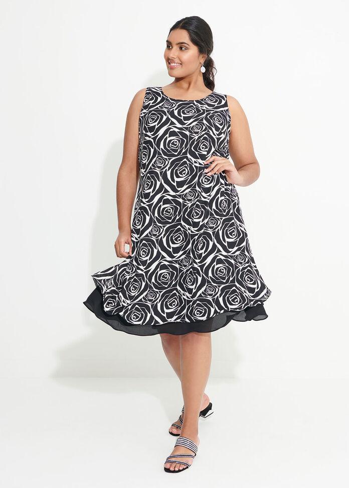 Rose Print Dress, , hi-res