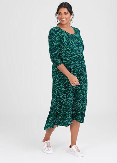 Natural Spot Shirt Dress