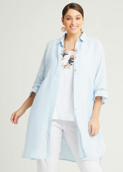 Linen Ava Longline Shirt