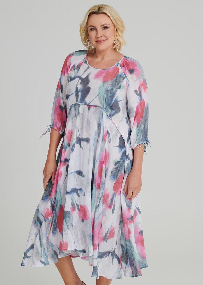 Pastel Floral Dress, , hi-res