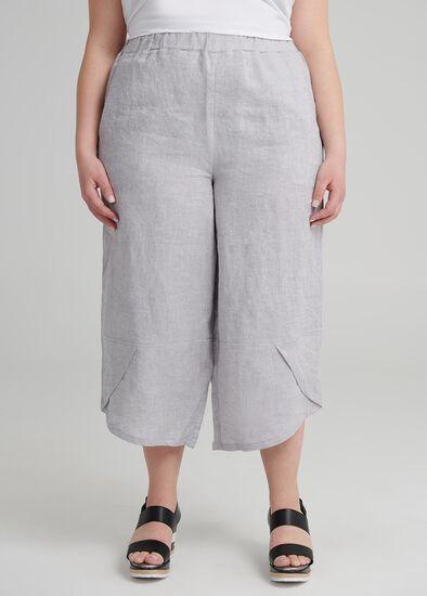 Petite Aj Linen Crop Pant