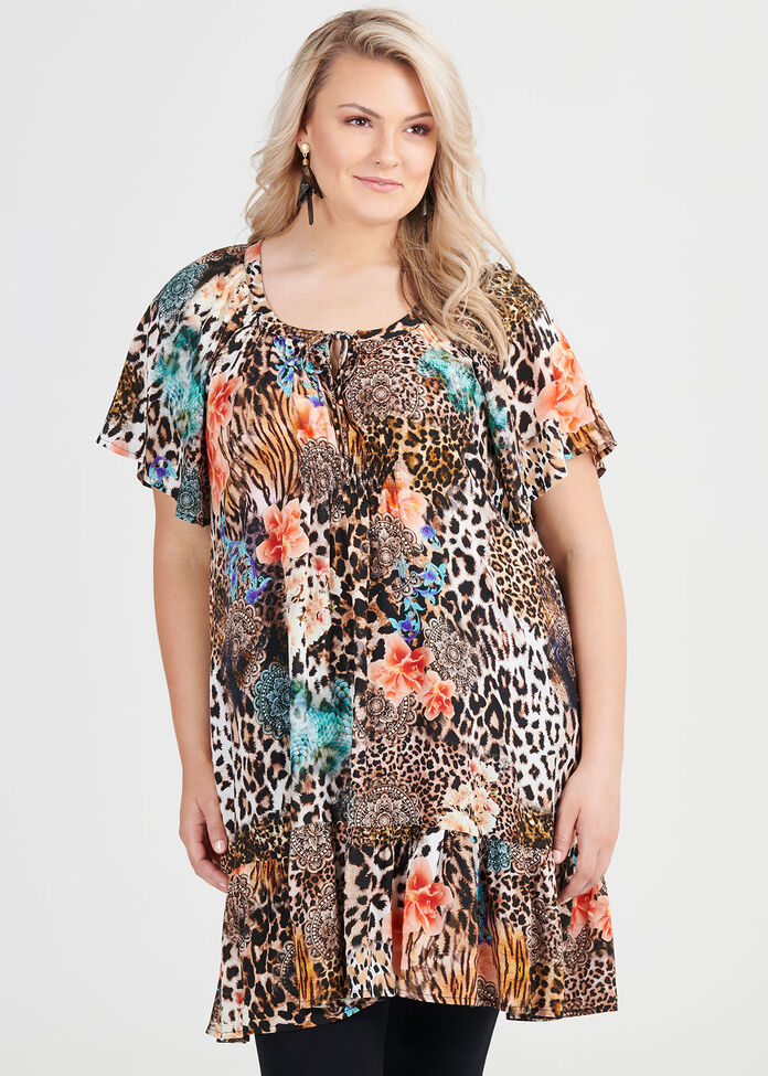 Natural Wild Animal Tunic, , hi-res