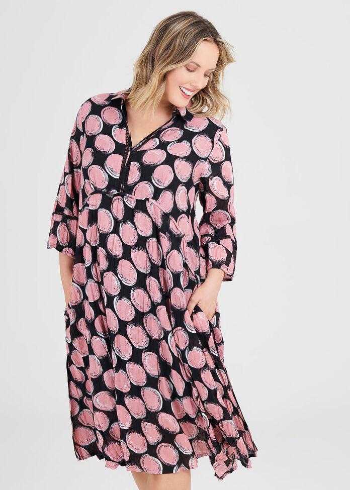 Cotton Textures Spot Dress, , hi-res