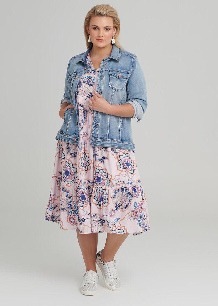 Iris Garden Dress, , hi-res