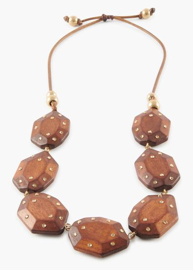 Crystal Wood Necklace