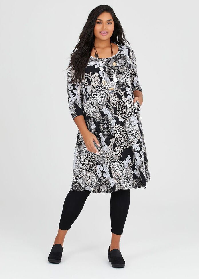 Perfect Paisley Dress, , hi-res