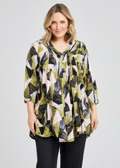 Natural Tuck Front Tunic