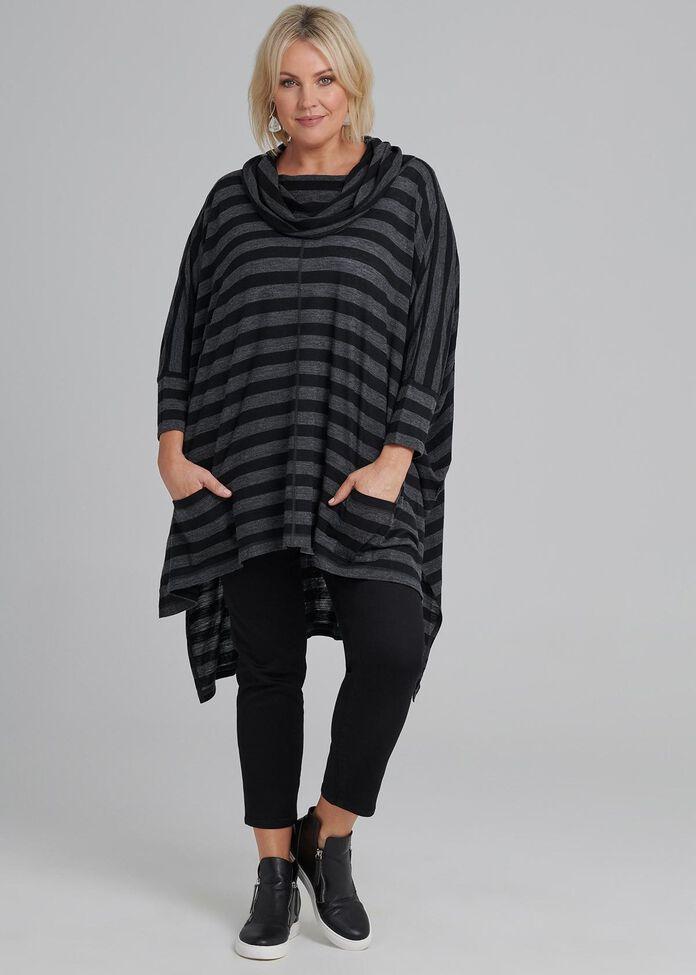Alpine Stripe Wool Tunic, , hi-res