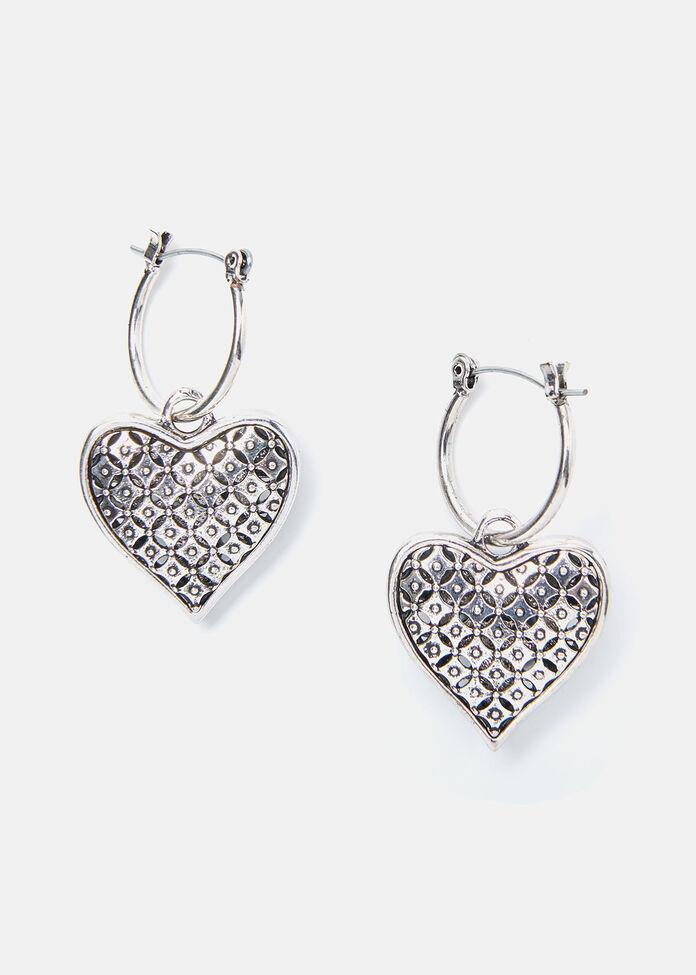 The Blues Heart Earrings, , hi-res