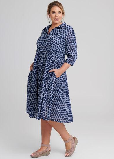 Shibori Cotton Dress