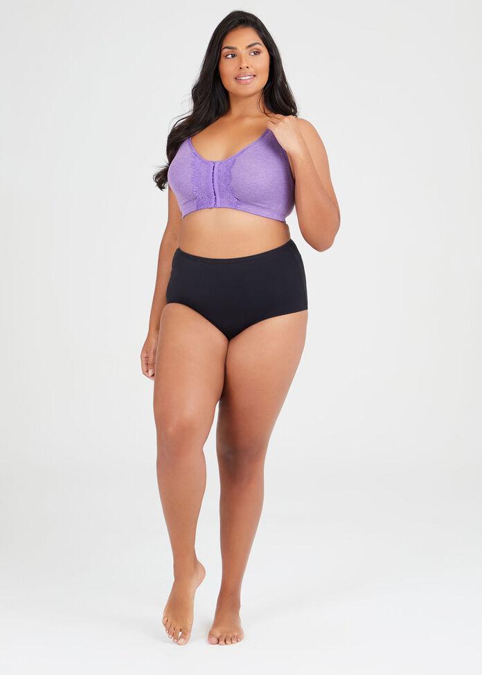 Wirefree Lace Trim Bra Sizes 14-18, , hi-res