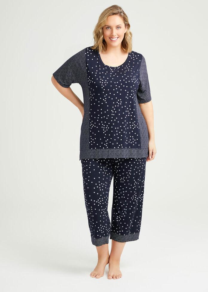 Bamboo Mini Stars Pyjama Top, , hi-res