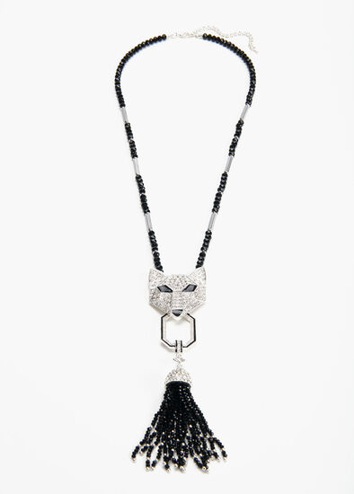 Crystal Fox Necklace