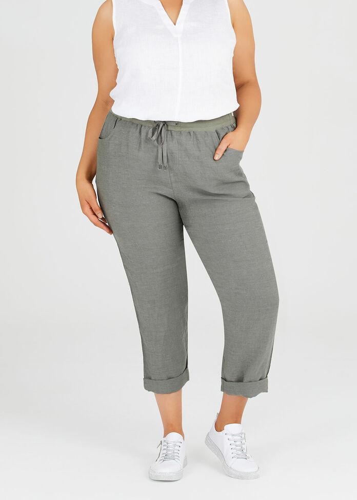 Latania Linen & Sequin Pant, , hi-res