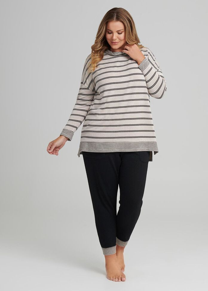 Stripe Lounge Top, , hi-res