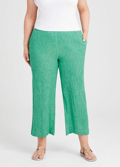 Eva Crinkle Linen Wide Pant