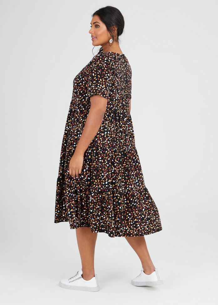 Organic Abstract Dress, , hi-res