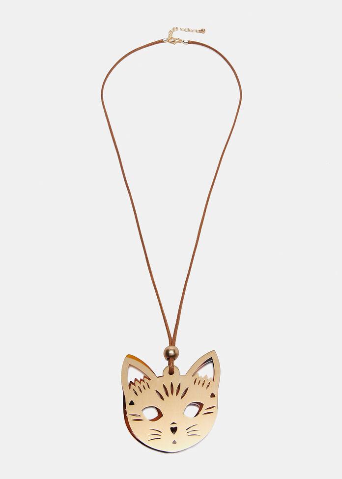 Kitten Pendant Necklace, , hi-res