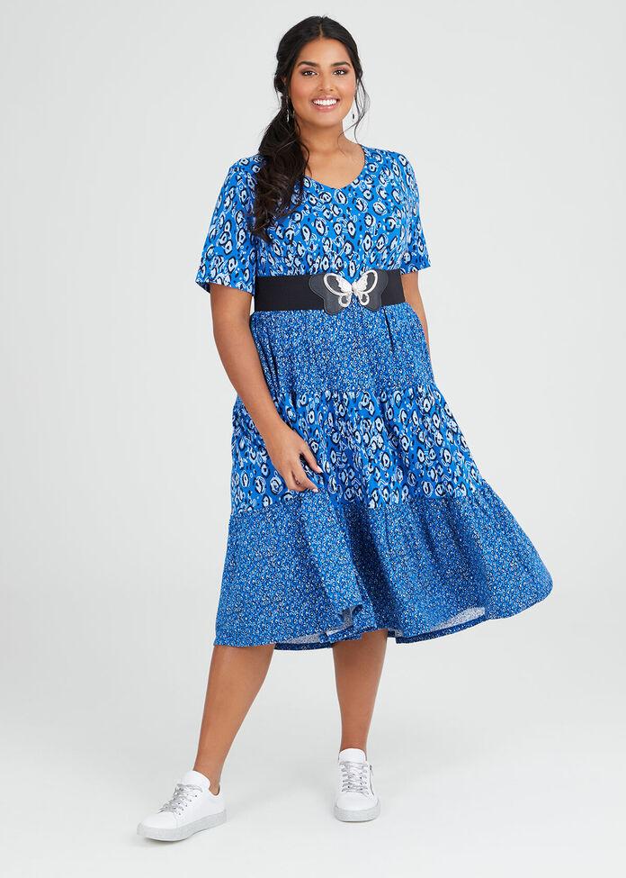 Cotton Circles Moon Dress, , hi-res