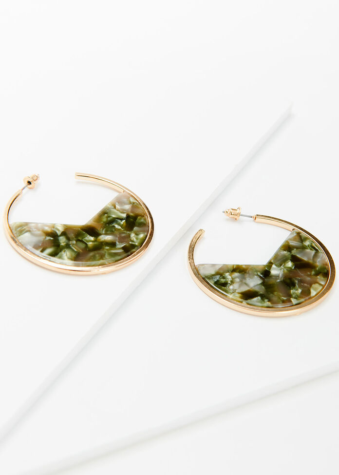 Chameleon Hoop Earrings, , hi-res