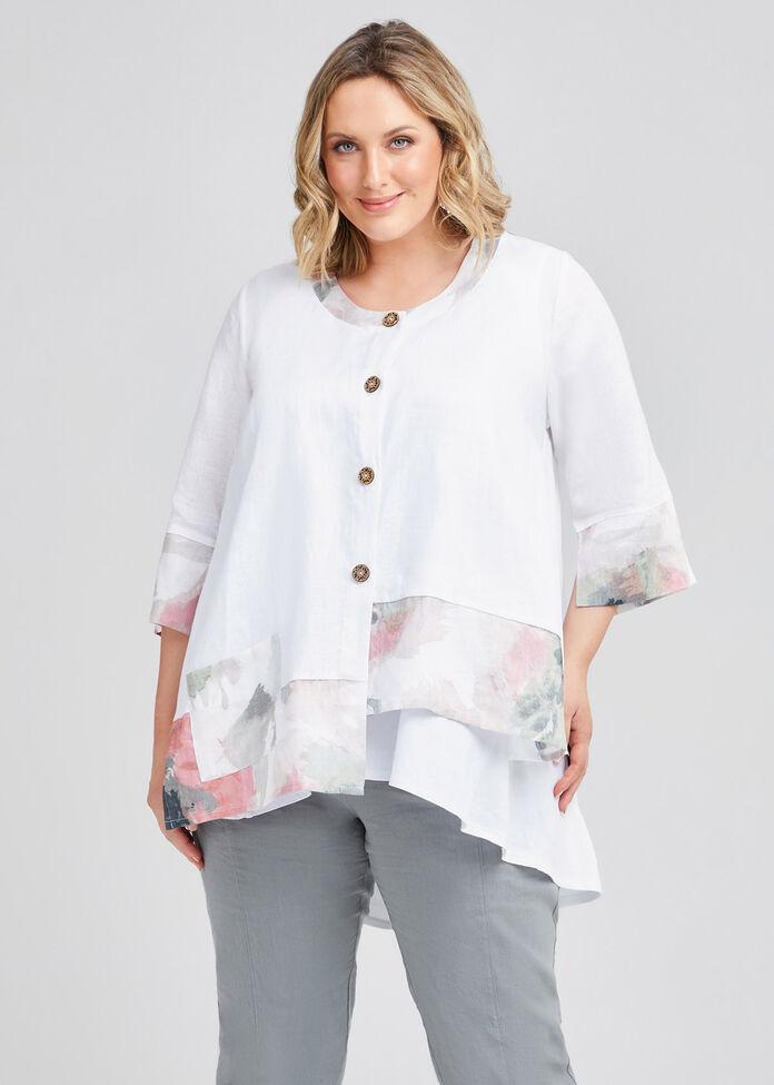 Misty Vibe Linen Pocket Jacket, , hi-res