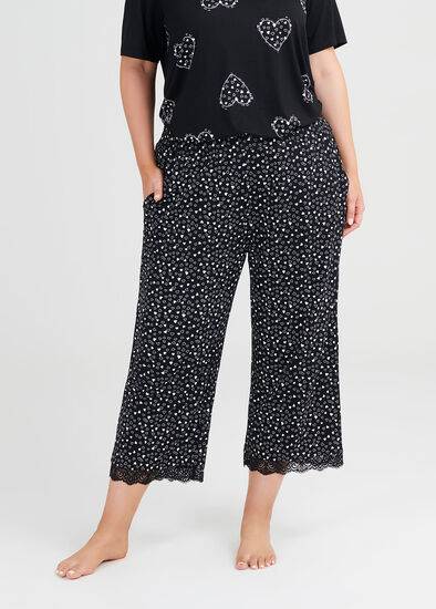 Bamboo Mini Hearts Pj Pant