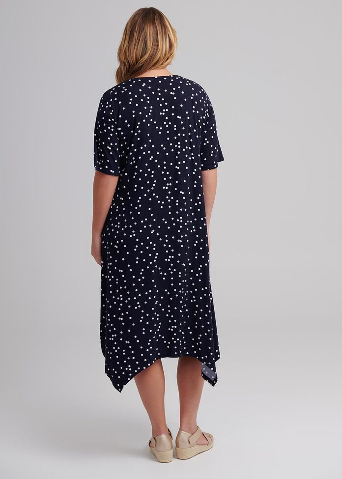 Shibori Spot Dress, , hi-res