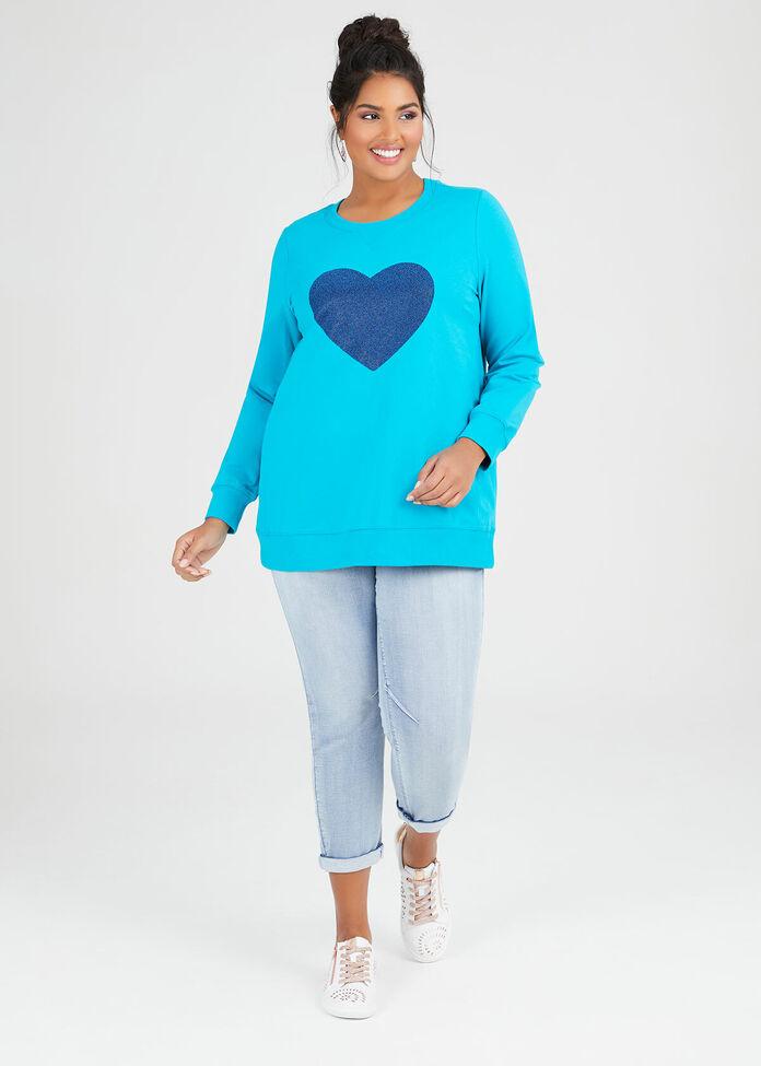 Organic Love Heart Sweat, , hi-res