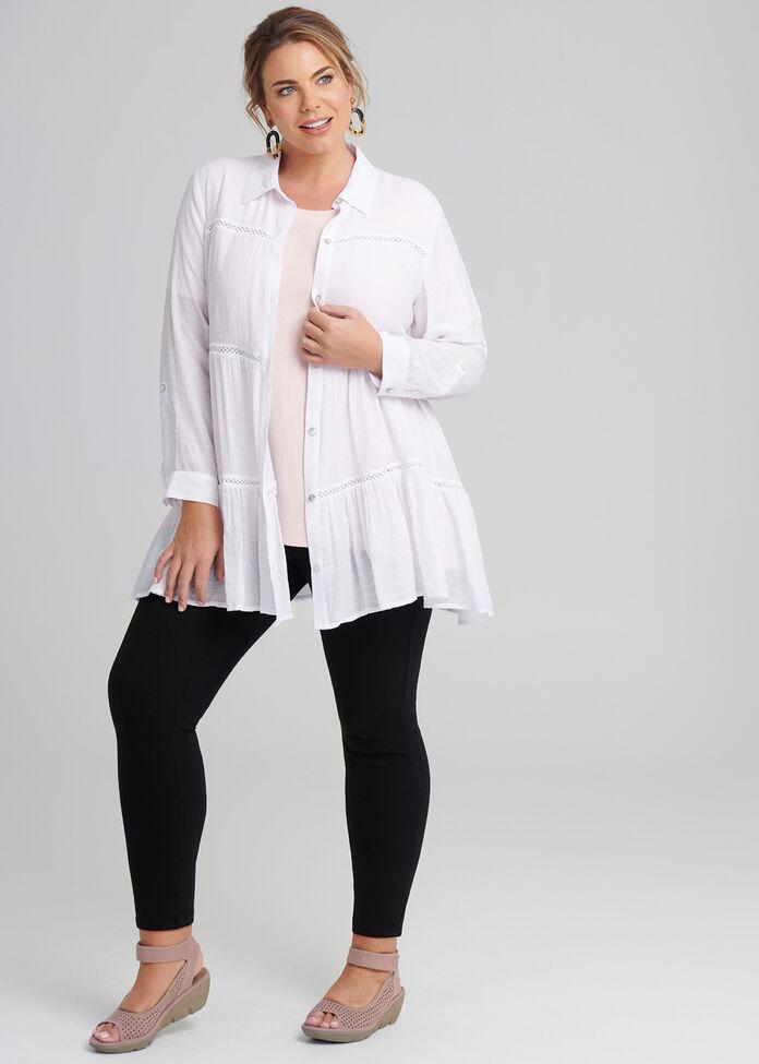 Crochet Trim Shirt, , hi-res
