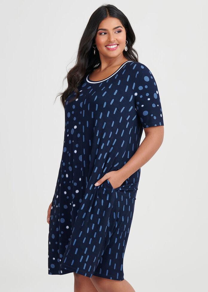 Bamboo Dash & Dot Dress, , hi-res