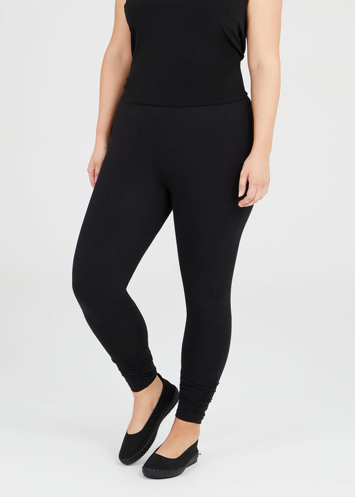 Organic Ruched Legging, , hi-res