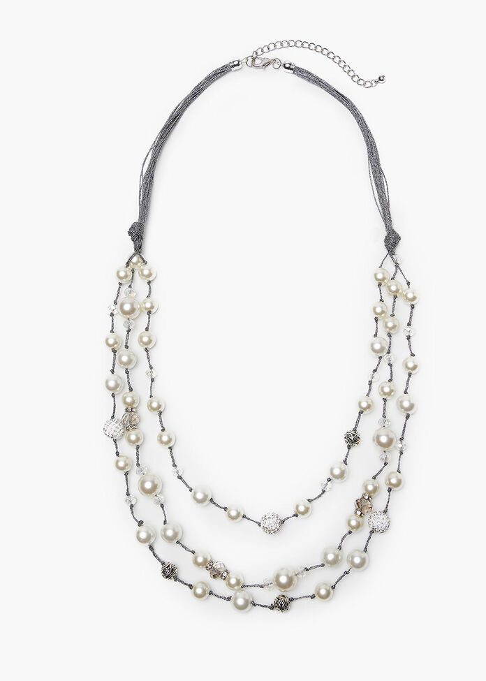 Perfect Pearl Necklace, , hi-res