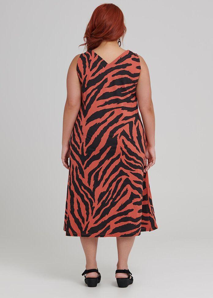 Abstract Zebra Dress, , hi-res