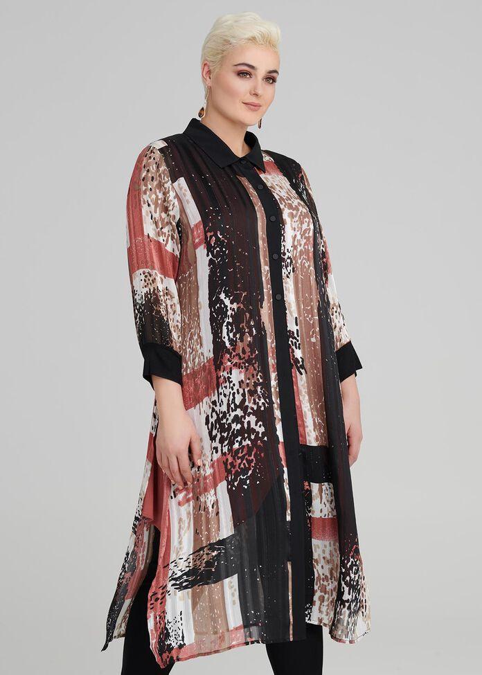 Mecca Print Lurex Shirt, , hi-res