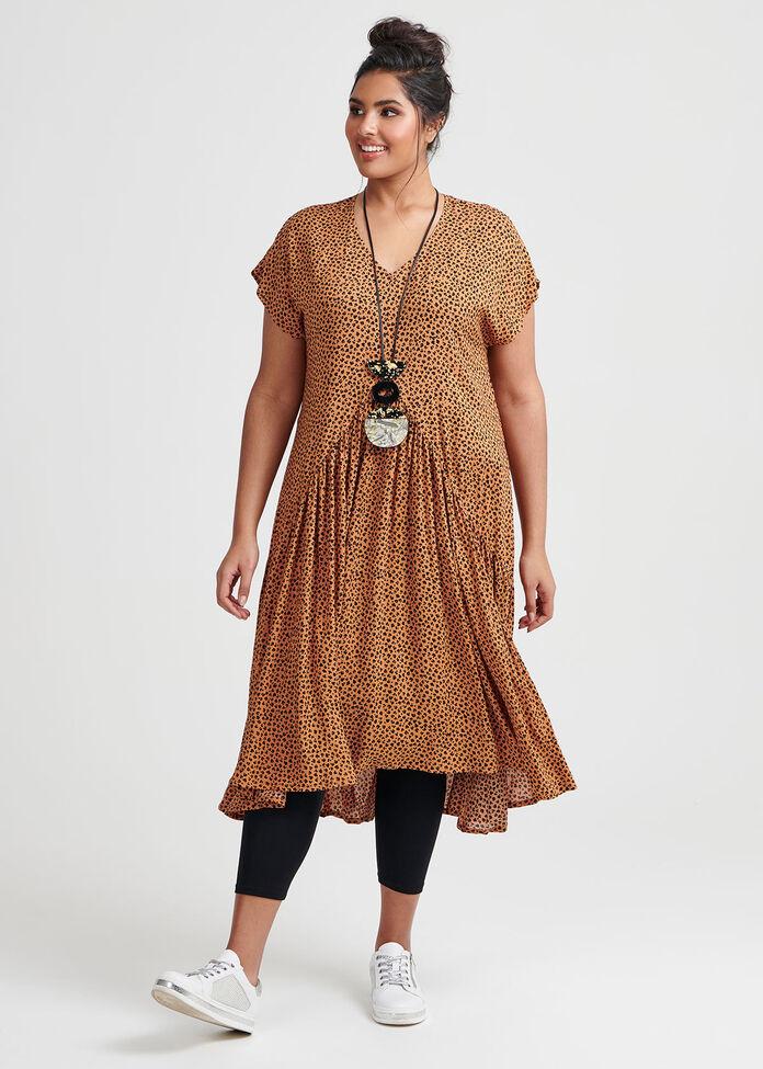 Natural Mini Animal Dress, , hi-res