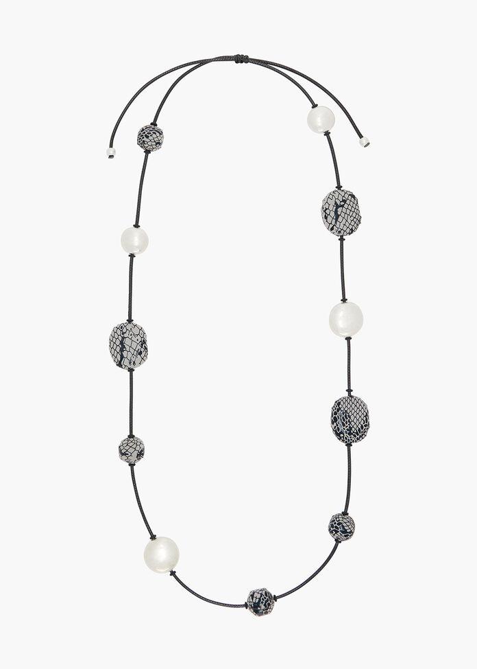 Serpenti Beaded Necklace, , hi-res