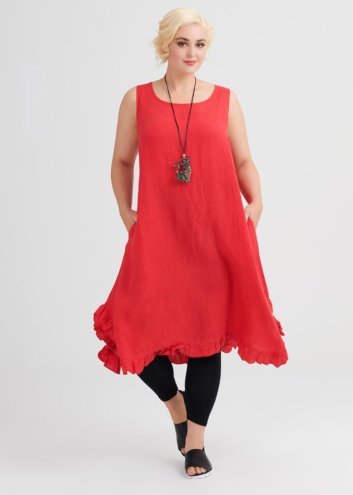 Linen Mix & Mingle Dress, , hi-res